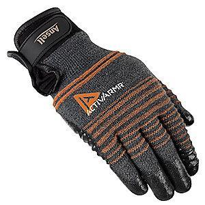 Ansell Nitrile Cut Resistant Gloves, ANSI/ISEA Cut Level 4, Kevlar , Lycra , Nylon, Stainless Steel