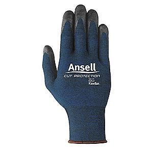 Ansell Nitrile Cut Resistant Gloves, ANSI/ISEA Cut Level 4, Kevlar , Lycra , Polyester, Stainless