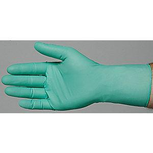 "Ansell 11"" Powder Free Unlined Neoprene Disposable Gloves, Bright Green, Size  M, 100PK"