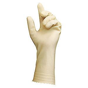 "Ansell 11-1/2"" Powder Free Unlined Natural Rubber Latex Disposable Gloves, Natural, Size  8, 1PR"