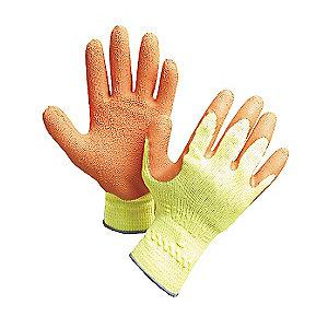 Showa Natural Rubber Latex Cut Resistant Gloves, Cut Level 2 Lining, Yellow/Orange, XL, PR 1
