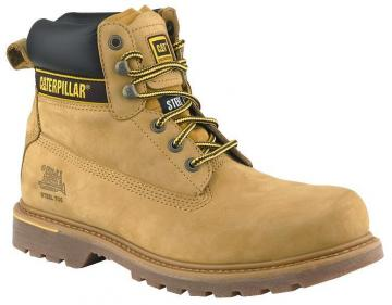 Caterpillar Holton Safety Boot, Honey Size 8