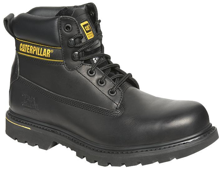 Caterpillar Holton Safety Boot, Black Size 10