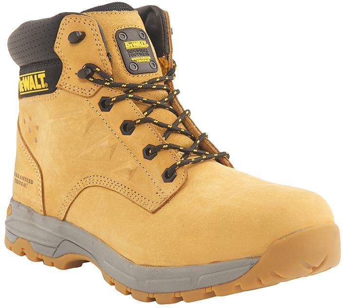 DeWalt Nubuck Safety Boots, Wheat Size 6