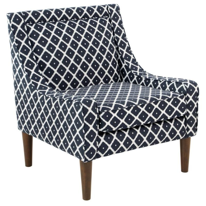 Skyline Mid Century Swoop Arm Chair In Souk Admiral