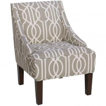 Skyline Swoop Arm Chair In Deco Slate