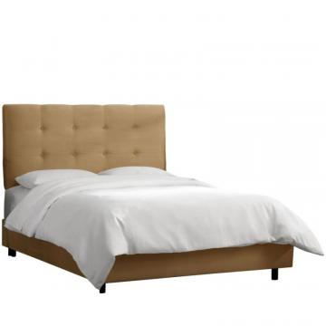 Skyline Full Tufted Bed In Premier Saddle