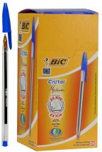 BIC Medium Tip Cristal Ballpoint Pens - Pack of 50 (Blue)
