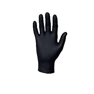 "Microflex 9-1/2"" Powder Free Unlined Nitrile Disposable Gloves, Black, Size  XS"