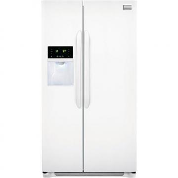 Frigidaire Gallery 26 Cu. Ft. Side-by-Side Refrigerator with Front Water/Ice Dispenser - Pearl White
