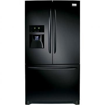 Frigidaire Gallery 27.7 Cu. Ft. French Door Refrigerator with Front Water/Ice Dispenser - Ebony Blac