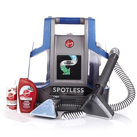 Hoover Spotless Portable Spot Cleaner Bundle with Self-Cleaning Hose and Cleaning Formulas