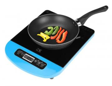Kalorik Glass Induction Cooking Plate with LED Display in Blue