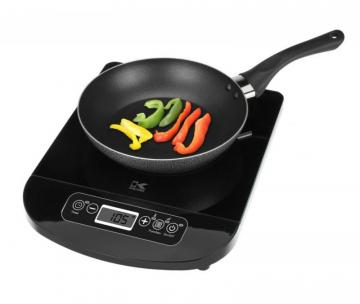 Kalorik Glass Induction Cooking Plate with LED Display in Black