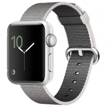 Apple Watch Series 2 38mm Silver Case with Pearl Woven Strap