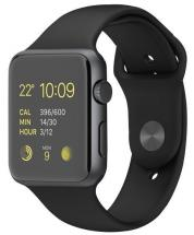 Apple Watch Sport 42mm Space Grey Aluminium Case with Black Sport Band