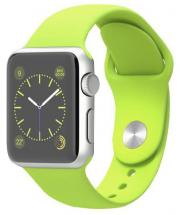 Apple Watch Sport 38mm Silver Aluminium Case with Green Sport Band