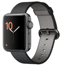 Apple Watch Series 2 38mm Space Grey Case with Black Woven Strap