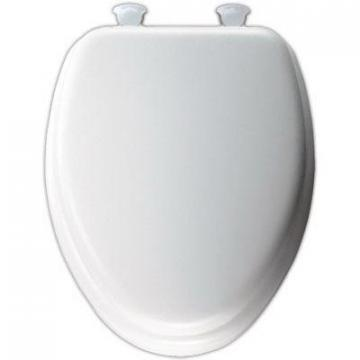 Bemis Mayfair Elongated Cushioned Vinyl Soft Toilet Seat, Easy-Clean & Change  Hinge, White