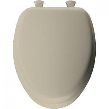 Bemis Mayfair Elongated Cushioned Vinyl Soft Toilet Seat, Easy-Clean & Change  Hinge, Bone