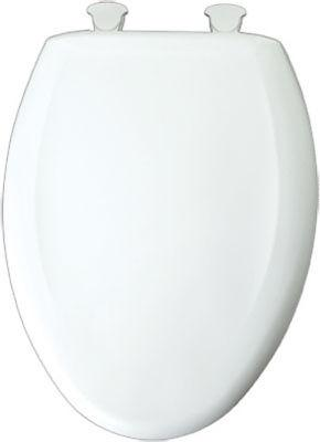 Bemis Toilet Seat, Elongated, White Plastic