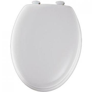 Bemis Mayfair Elongated Molded Wood Toilet Seat, Easy-Clean & Change  Hinge, White