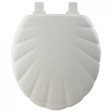 Bemis Toilet Seat, Round, White Wood