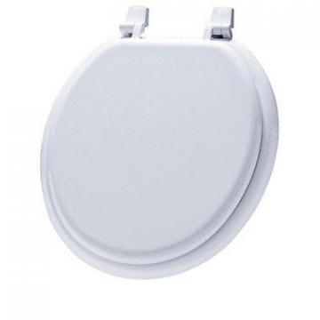 Bemis Round Molded Wood Toilet Seat, White