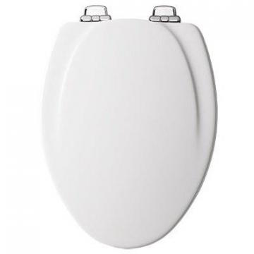 Bemis Toilet Seat, Elongated, White Wood