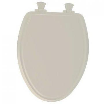 Bemis Toilet Seat, Elongated, Whisper Close, White Wood