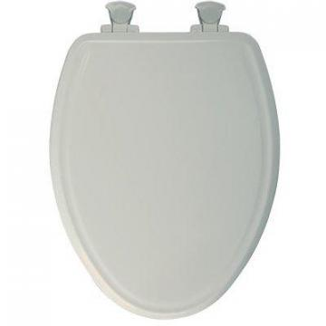 Bemis Toilet Seat, Elongated, Whisper Close, Biscuit Wood