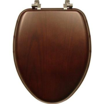 Bemis Toilet Seat, Elongated, Walnut Wood Veneer