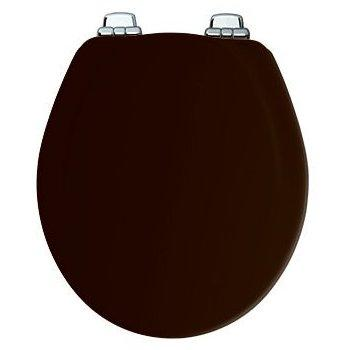 Bemis Toilet Seat, Round, Black Wood