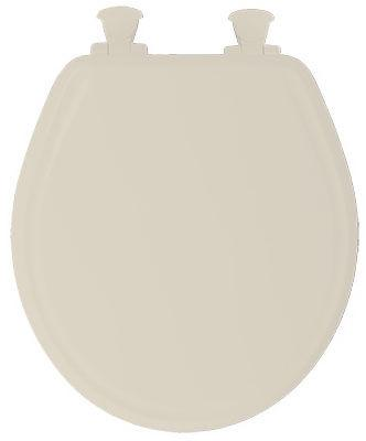 Bemis Toilet Seat, Round, Whisper Close, Bone Wood