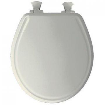Bemis Toilet Seat, Round, Whisper Close, Biscuit Wood