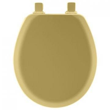 Bemis Toilet Seat, Round, Harvest Gold Wood