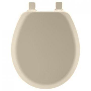 Bemis Toilet Seat, Round, Bone Wood