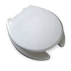 Bemis Commercial Heavy Duty Plastic Toilet Seat, Round, With Cover, 16""