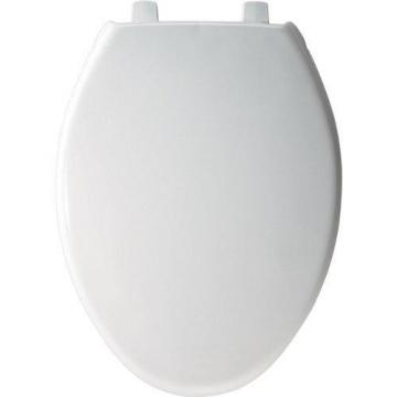 Bemis Commercial Heavy Duty Plastic Toilet Seat, Elongated, With Cover, 18-13/16""