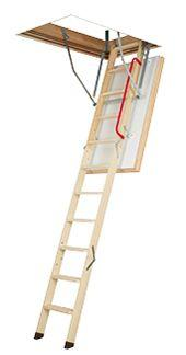 Fakro Attic Ladder (Wooden insulated ) LWT 22 1/2X47 300 lbs 8 ft 11 in