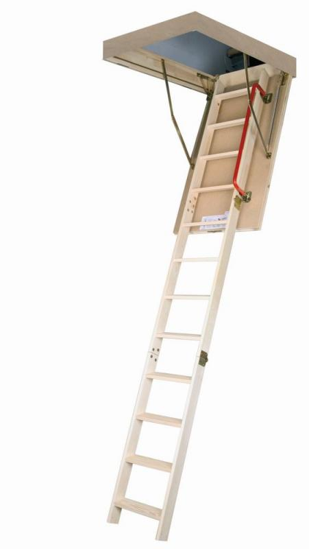 Fakro Attic Ladder (Wooden insulated) LWP 22 1/2x47 300 lbs 8 ft11 in