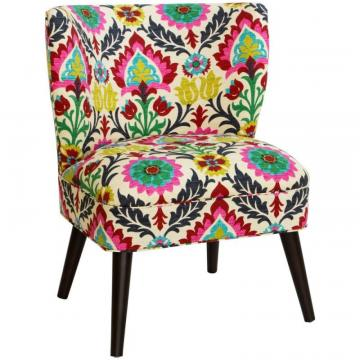 Skyline Curved Armless Chair In Santa Maria Desert Flower