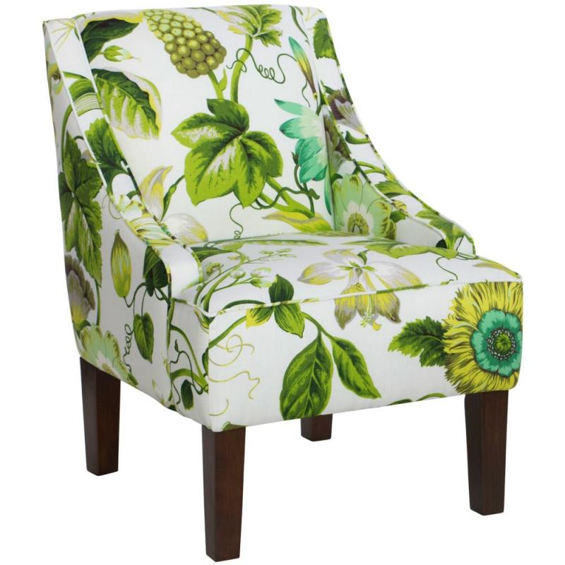 Skyline Swoop Arm Chair In Grandiflora Jardin