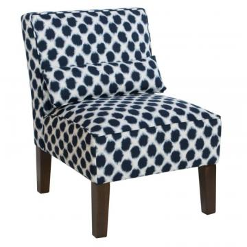 Skyline Armless Chair In Shibori Indigo