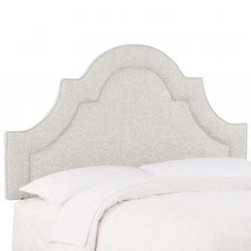 Skyline Queen Arched Border Headboard In Groupie Oyster