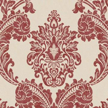 Graham & Brown Regent Red/Cream Wallpaper
