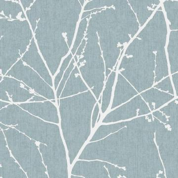 Graham & Brown Innocence Duck Egg/Cream Wallpaper