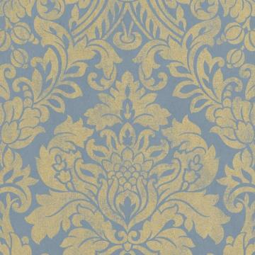 Graham & Brown Gloriana Blue/Gold Wallpaper