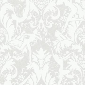 Graham & Brown Forest Muse White/Silver Wallpaper