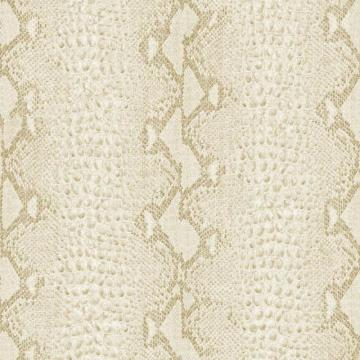 Graham & Brown Snake White/Gold Wallpaper